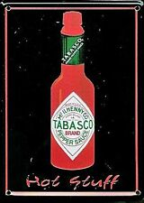 Tabasco Sauce Bottle metal postcard / mini sign   (hi)