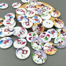 20pcs Mixed Christmas Snowman Buttons Fit Sewing Scrapbook CraftsDecorative 20mm