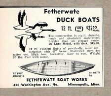 1940 Print Ad Fetherwate Duck Boats Made in Minneapolis,MN