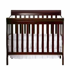 Dream On Me 4 in 1 TODDLER BED, Aden Mini Convertible CRIB, Espresso