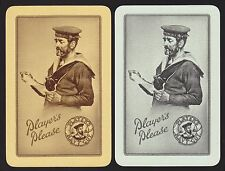2 SINGLE VINTAGE SWAP PLAYING CARDS CIGARETTE TOBACCO PLAYERS NAVY CUT SAILORS