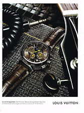 PUBLICITE ADVERTISING 025  2008  LOUIS VUITTON collection montre homme