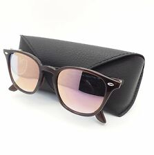 Ray Ban 4258 6231/1N Shiny Opal Brown Blue Pink Mirror Sunglasses New Authentic