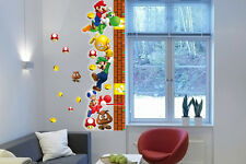 Super Mario Height Measurement 3D Wall Sticker Art Vinyl Mural Decor Decal Kids