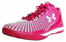 Mens UNDER ARMOUR UA Clutchfit Drive Low Basketball Shoes Sneakers PINK WHITE 16