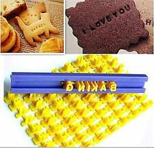 DRK Alphabet Letter Number Cookie Press Stamp Embosser Cutter Fondant Mould Cake