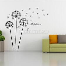 Sticker De Mural Fleur Pissenlit Autocollant DIY Art Décoratif Mur Chambre Salon