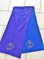 Hot Fashion LongScarf Blue Anchor Table Cloth 190cm x 45cm 2disdes in 2Material