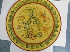 "Rosemaling 14"" Plate Painted & Signed by S. Bird"