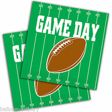 16 American Football GAME DAY Party Green 2ply 33cm Paper Luncheon Napkins