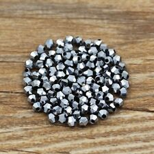 Swarovski 5301# 4 mm Bicone Crystal bead A 100 Pieces Plating white K
