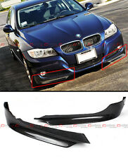 FOR BMW 2009-11 E90 E91 3-SERIES 4DR SEDAN CARBON FIBER FRONT BUMPER SPLITTERS