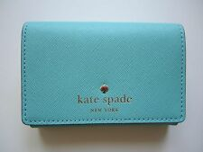 NEW KATE SPADE MIKAS POND CHRISTINE Small Wallet Powder Blue (WLRU1687)