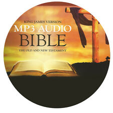 NEW! THE BIBLE ON CD MP3 AUDIO KING JAMES VERSION OLD AND NEW TESTAMENT COMPLETE