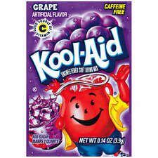 10 Packs Kool-Aid GRAPE Unsweetened Drink Mix Packets