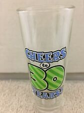 "CHEERS TO 30 YEARS 4"" SHOT GLASS Cute Birthday Tall Double Shots"