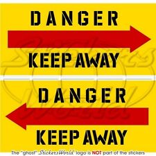 DANGER KEEP AWAY Helicopter Tail USAF, US ARMY RAF NATO 75mm Stickers Decals x2