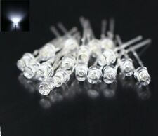 20PCS F3 3MM FLAT TOP LED WHITE SUPER BRIGHT Wide Angle Leds Lamps NEW