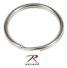 "251  Rothco 1"" Nickel Split Ring Pack of 50"