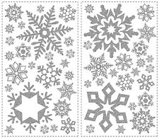 GLITTER SNOWFLAKES 47 BiG Christmas Holiday Room Decor Stickers Decorations snow