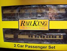 MTH Railking O Trains NYC New York 2 Car 60' Madison Combo Diner Set 30-69125