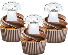 12 x real madrid fc football shirts gâteau toppers comestibles décorations anniversaire