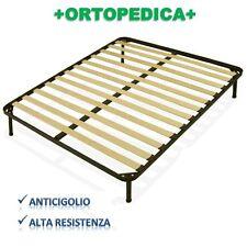 RETE ORTOPEDICA 13 DOGHE 130X190 CON PIEDINI FERRO ALTEZZA A SCELTA