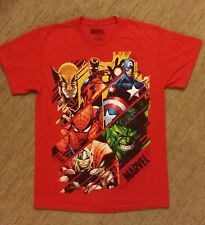 OFFICIAL Marvel The Avengers Red T-shirt Size: Med Preowned **FAST SHIPPING**