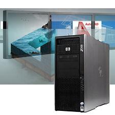 HP Z800 Powerful CAD Workstation 24GB RAM Autodesk / Adobe Modeling / Rendering