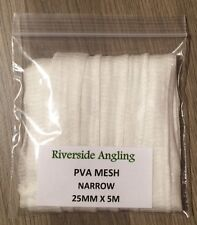 PVA Mesh Refil. 25mm x 5M Narrow Stocking Carp Boilie Bait Bags