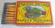 ENGINE BRAND - SAFETY MATCHES, MADE IN SWEDEN