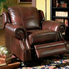Coaster 500663 Princeton Rolled Arm Leather Recliner