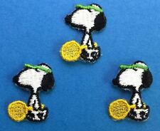 3 Lot Vintage 1970's Snoopy Peanuts Tennis Embroidered Hat Jacket Patches B
