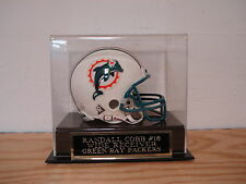 Football Mini Helmet Display Case With A Randall Cobb Packers Engraved Nameplate
