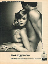 PUBLICITE ADVERTISING  1978   BALENCIAGA  parfum  HO HANG