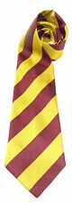KINGS ROYAL HUSSARS REGIMENT  WOVEN POLYESTER STRIPE  UK MADE MILITARY TIE