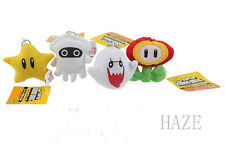 4pcs/set Super Mario Bros Plush Boo Ghost Star Blooper Flower Soft Toy Gift