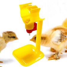 Poultry Chicken Duck Hanging Drinking Water Nipple Drinker Feeder With Cup New