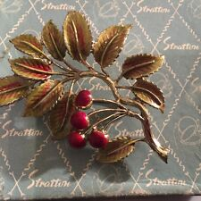 VINTAGE  EXQUISITE LEAF BROOCH - MOUNTAIN ASH     - GREAT CONDITION