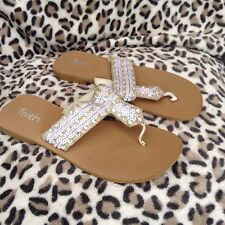 Faith Ladies Flip Flops in excellent condition With Pretty Detailing size UK 5