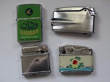 lot vintage lighters RONSON PENGUINO ECON SUNFLOWER FOR REPAIR OR PARTS !