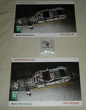 Le Mans 2015 FIA WEC Porsche AG Team Manthey #91 & #92 Signed Card Set + Bonus