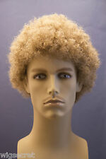 Premium Quality Tight Curly Men's Afro Style Wig Adjustable Size Synthetic Fiber