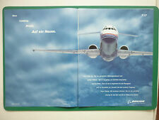 10/2000 PUB DOUBLE PAGE AVION BOEING 717 AIRLINER AIRLINE ORIGINAL GERMAN ADVERT