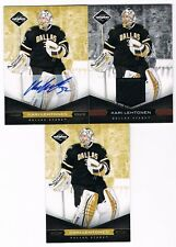 KARI LEHTONEN 2011-12 PANINI LIMITED GOLD CARD LOT AUTO/JERSEY/BASE