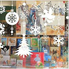 Angel Christmas Tree Snowflake Wall Decal Sticker Shop Window Glass Home Decor