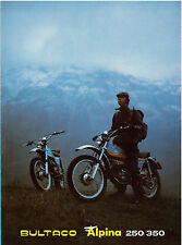 BULTACO Brochure Alpina 350 & 250 Trials 1974 Sales Catalog REPRO