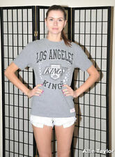 Los Angeles LA Kings vintage t shirt  - Gray - Mitchell & Ness - Youth Large