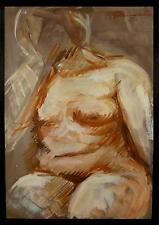 weiblicher - Akt / Gemälde / Verso undeutlich signiert mit H......? / um1930-50