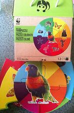 WWF Wilde Tiere Farbpuzzle 1-3+Jahre 12teilig